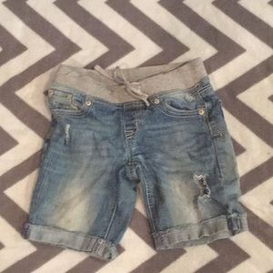 Girls distressed justice shorts